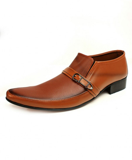 Faded Mustard Buckle Stylish Formal Shoes CB-2175