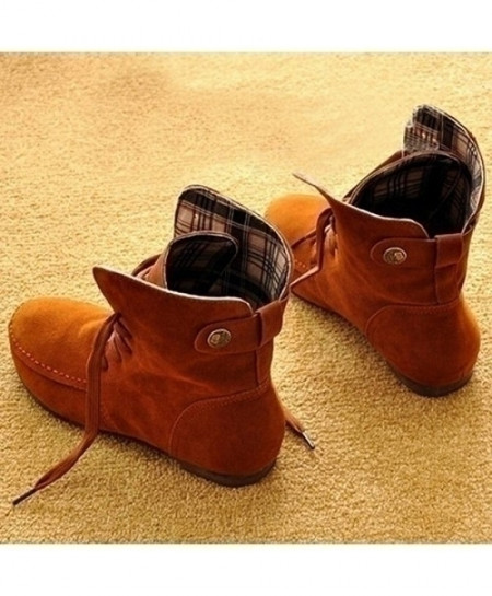 Buy Light Tan Designer Ladies Tide Casual Flat Ankle Boots Online In