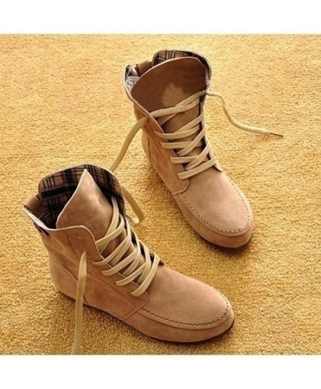 Beige Designer Ladies Tide Casual Flat Ankle Boots