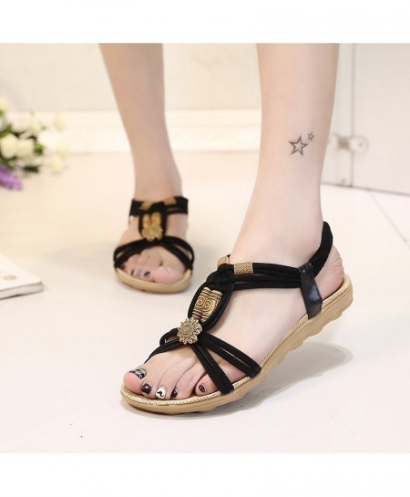KUIDFAR Black Stylish Sandals