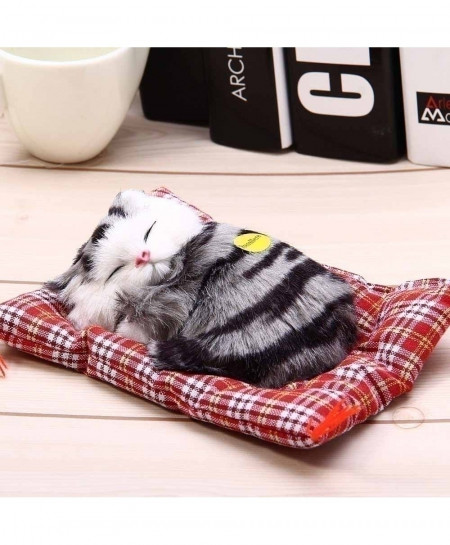 Sleeping Cat Simulation Doll Plush Stuffed Toy with Sound