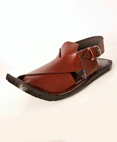 Choco Maroon Jeep Sole Stylish Peshawari Sandal AK-2820