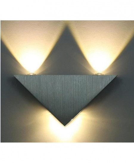 Warm White Modern Led Wall Lamp 3W Aluminum Body Triangle Wall Light