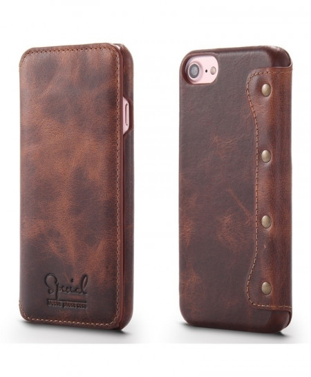 Brown Retro Handmade Luxury Cow Leather Case