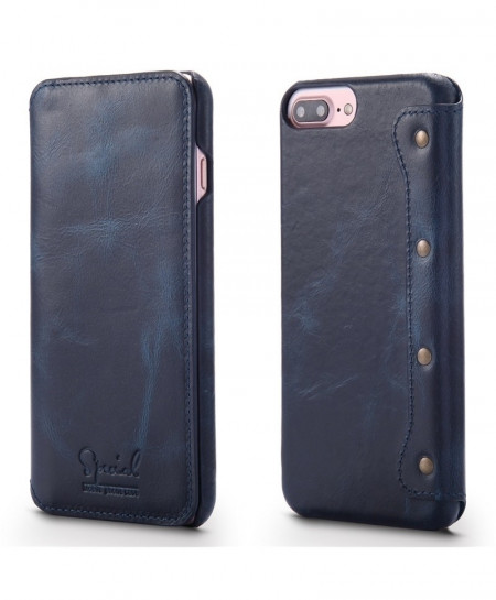 Navy Retro Handmade Luxury Cow Leather Case