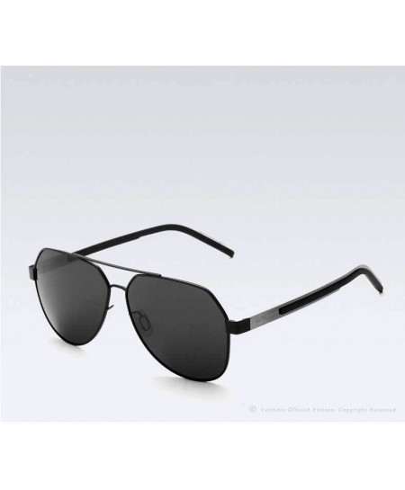 VEITHDIA Black Polarized Coating Mirror Classic Sunglasses