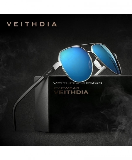 VEITHDIA Blue Polarized Coating Mirror Classic Sunglasses