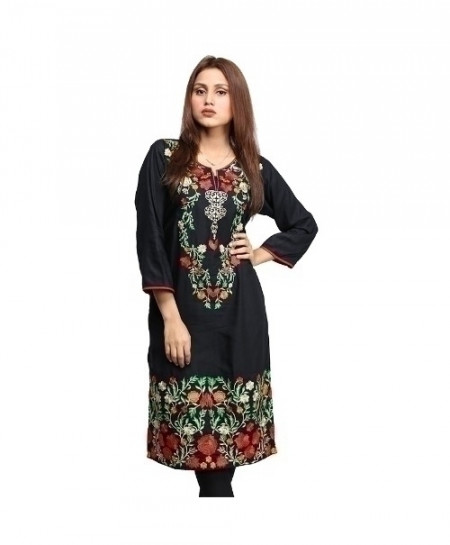 Black Embroidered Cotton Design Ladeis Suit AKG-183