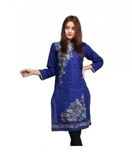 Royal Blue Embroidered Design Ladeis Suit AKG-171