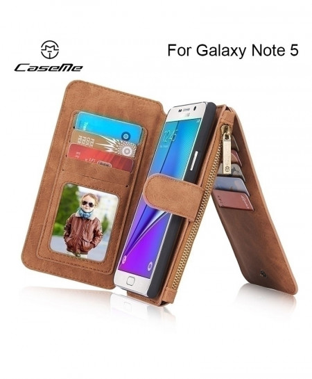 Luxury Brand Genuine Leather Phone Case For Samsung Galaxy Note 5