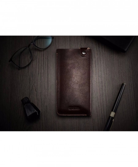 iCarer Coffee Luxury Leather Phone Pouch Holster Cases