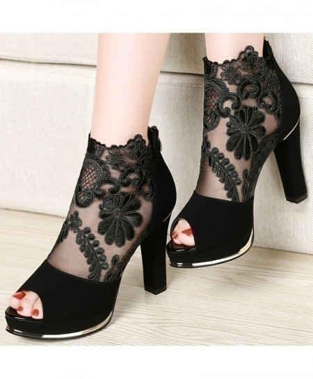 Centennial Black High Heeled Shoes