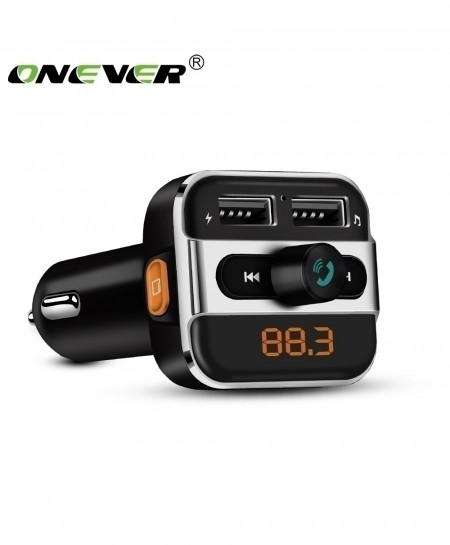 Onever Car MP3 Music Player 2 USB Car Charger Wireless FM Transmitter