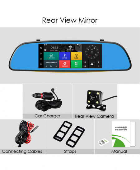 Rear View Mirror With Dash Cam