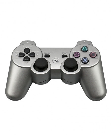 Silver 2.4G Wireless Bluetooth Game Controller Remote