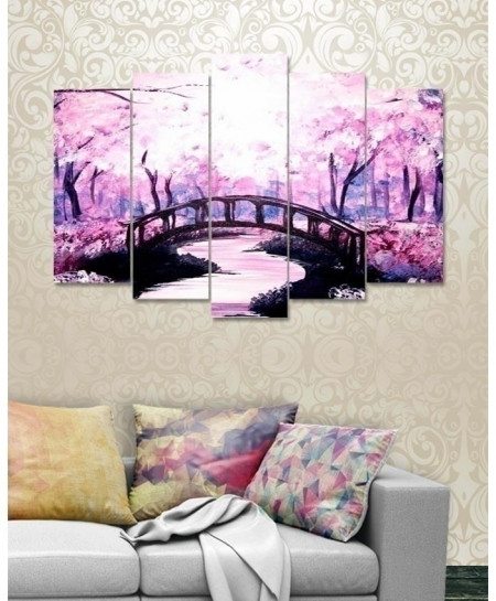 Spring Lake 5 Pieces Canvas Wall Frame BNS-3123