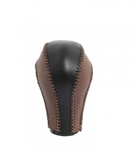 Black Brown Airspeed Leather Knob Handle Gear Shift