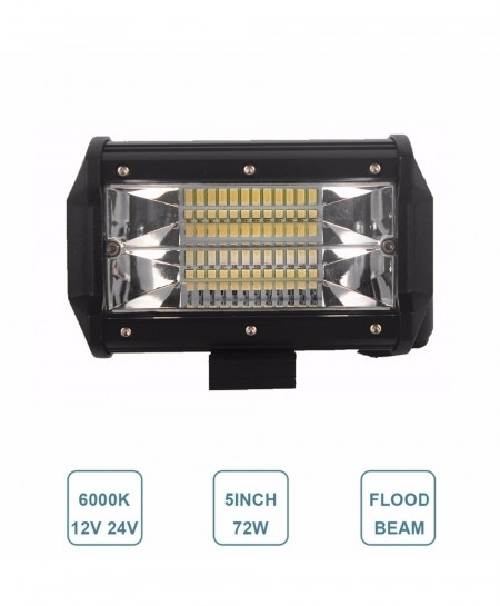 Offroad 5 Inch 72W Led Light Bar Flood Light