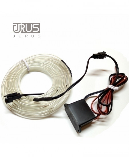 JURUS White 5M Styling Cold Line Flexible Interior Trim Strips Light