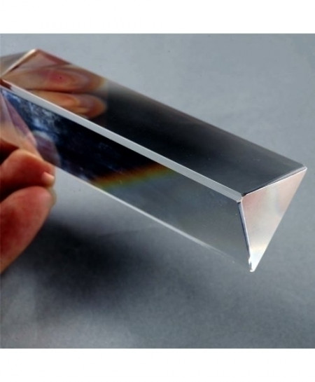 LHLL Physics Education Prism Precision Optical Glass 4 inches