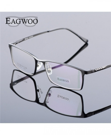 Eagwoo Grey Aluminum Wide Face Optical Frame
