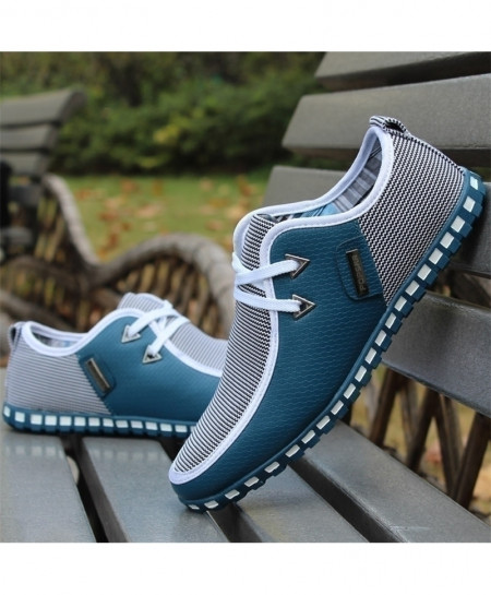 Blue Italian Flat Casual Shoes