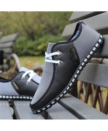 Black Italian Flat Casual Shoes