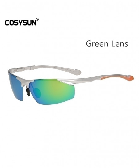 COSYSUN Green Polarized Aluminum Alloy Frame Sunglasses