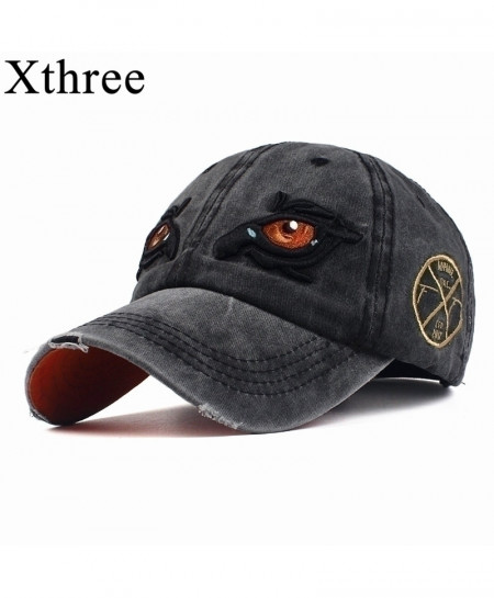 Xthree Black Embroidery Eye Cap