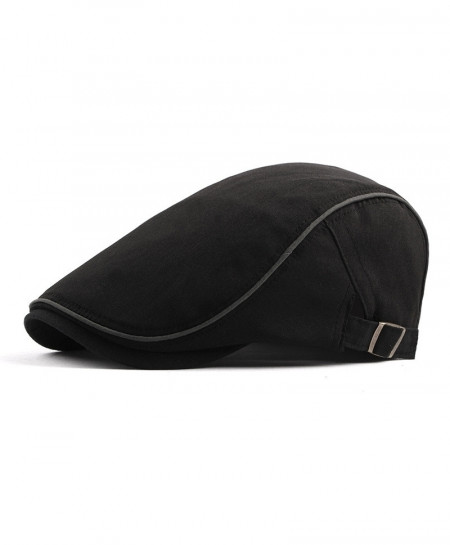 ZYSK Black Cotton Breathable Adjustable Berets Cap