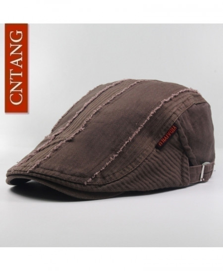 CNTANG Coffee Casual Beret Flat Cotton Visor Caps Hat