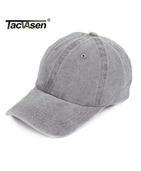 TACVASEN Grey Denim Sniper Cap
