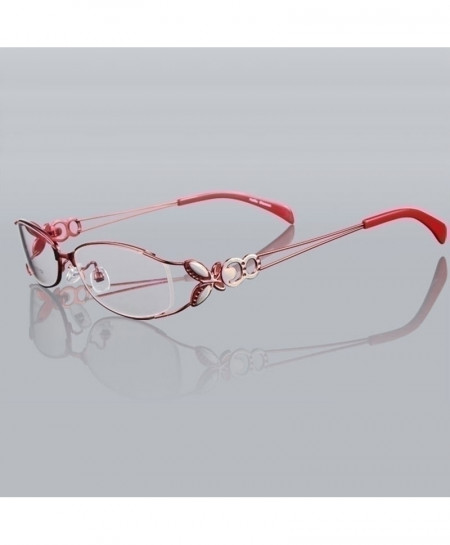 Butterfly Red Alloy Elegant Optical Glasses