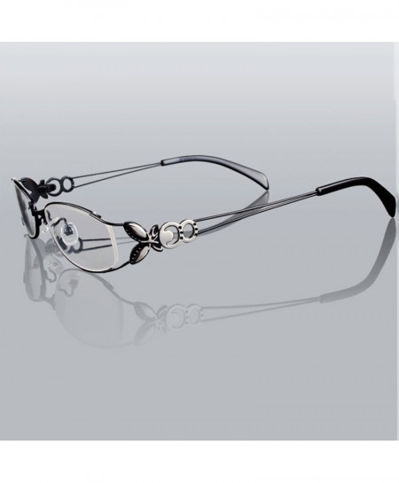 Butterfly Black Alloy Elegant Optical Glasses