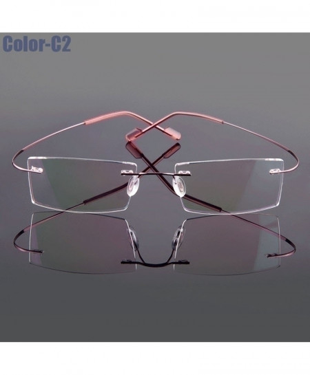 5018 Beta-Ti Pink Designer Style Flexible Memory Metal Rimless Optical Frame