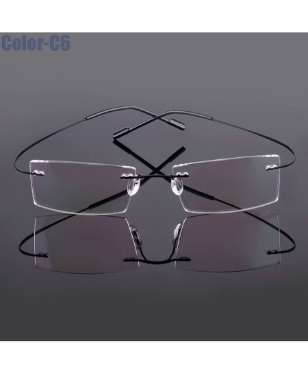 5018 Beta-Ti Black Designer Style Flexible Memory Metal Rimless Optical Frame