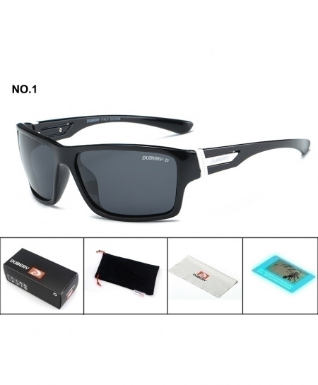 DUBERY Black Black Aviation Designer Sunglasses