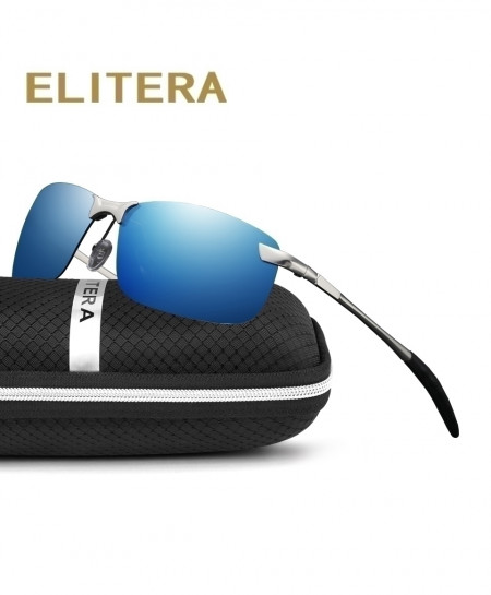 ELITERA Grey Dark Blue Polarized Sports Sunglasses