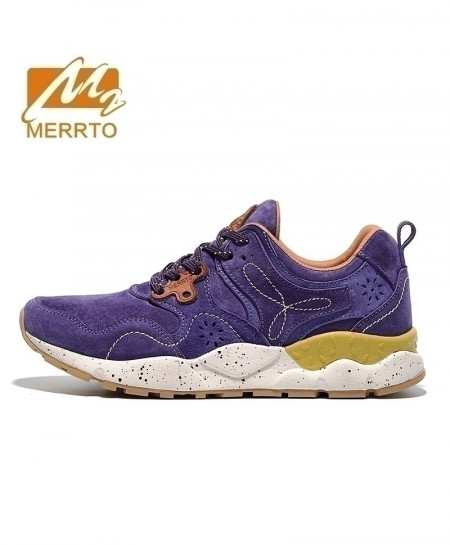 MERRTO Blue Skidproof Breathable Leather Sports Shoes