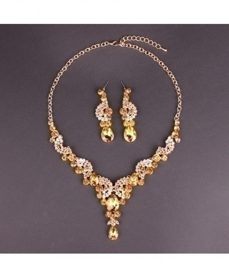 Yellow Crystals Jewelry Set