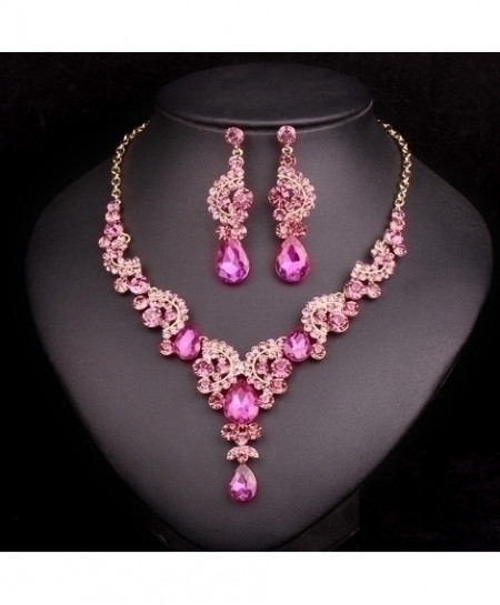 Pink Crystals Jewelry Set