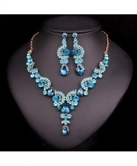 Sky Blue Crystals Jewelry Set