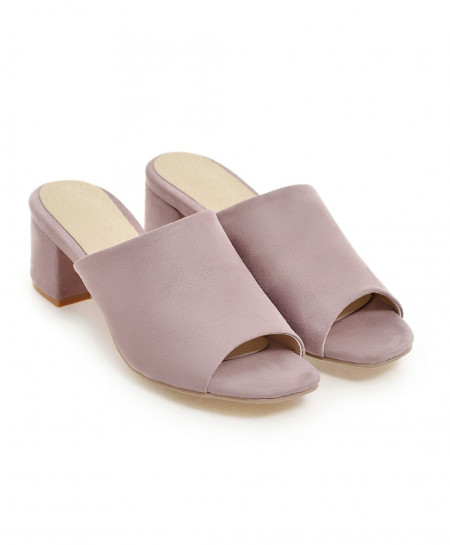 NEMAONE Light Purple Thick High heels Sandals