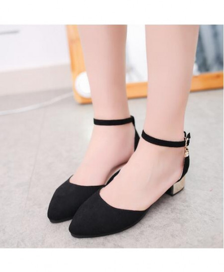 Black Pointed Toe Pumps Dress Shoes