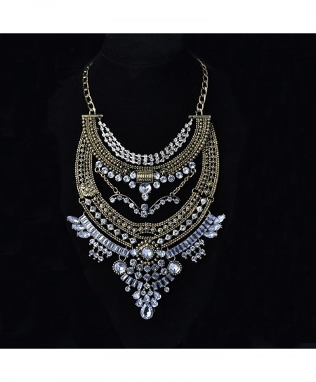 Golden Silver Gypsy Vintage Maxi Jewelry Trendy Collar Ethnic Bohemian Choker Necklaces