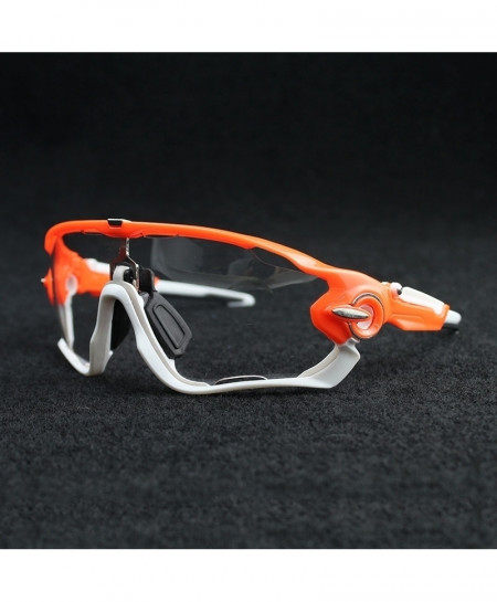 Photochromic Grey White Glossy Mountain Cycling Sunglasses