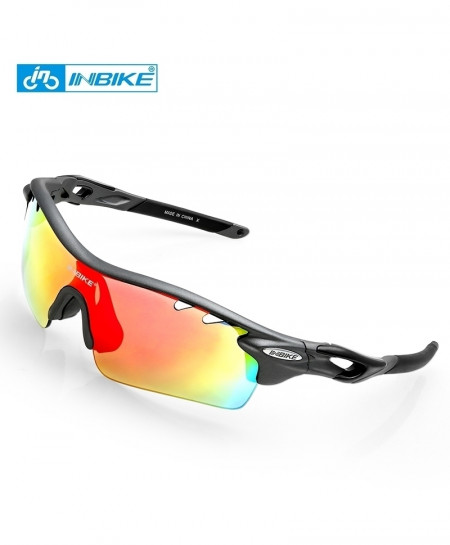 Grey 5 Lenses Cycling Polarized Sunglasses