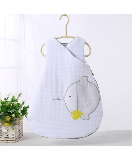 White Sleeveless Warm Thick Cotton Quilt Sleeping Bag