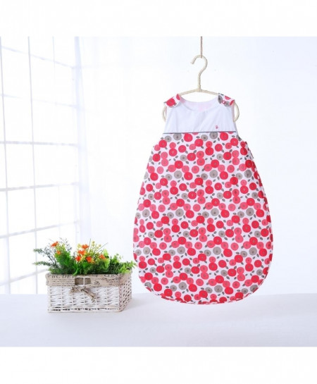 Red Sleeveless Warm Thick Cotton Quilt Sleeping Bag