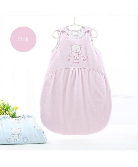 Pink Sleeveless Warm Thick Cotton Quilt Sleeping Bag